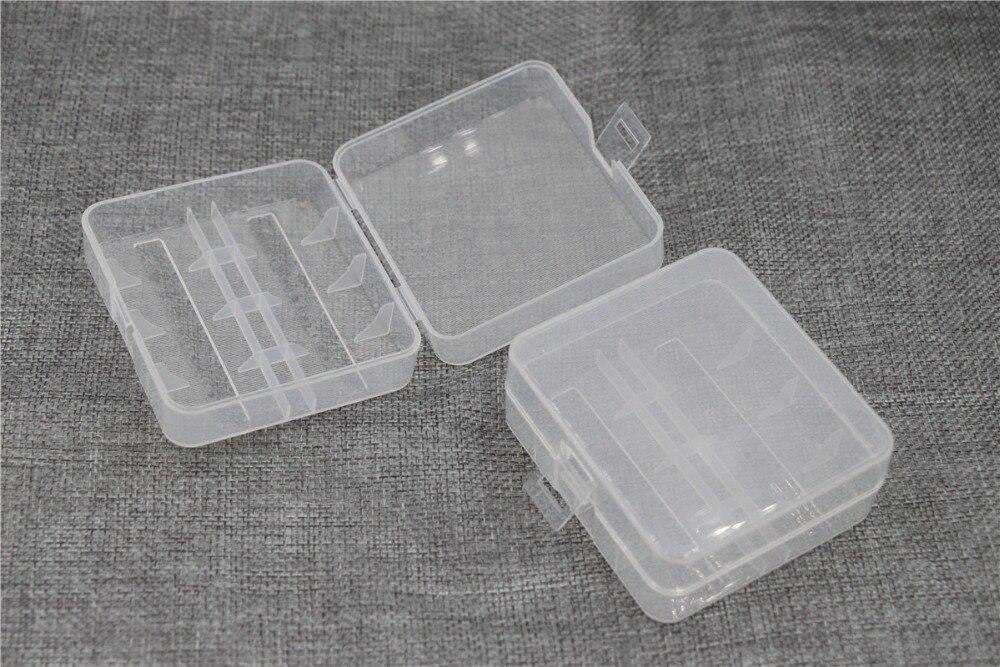 10pcs/lot translucent 26650 Battery Case Organizer for 2PCS 26650 Li-ion batteries Plastic Case Holder Battery Storage Box