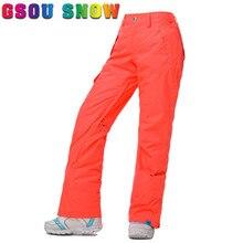 Gsou Snow New Snowboard Pants Women Waterproof Windproof High Quality Women Trouser Outdoor Snow Ski Pants Snowboarding Skiing