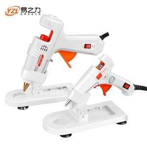 EU Plug Professional High Temp Hot Melt Glue Gun 30W Graft Repair Heat Gun Pneumatic DIY Tools Hot Glue Gun free Glue sticks(China)