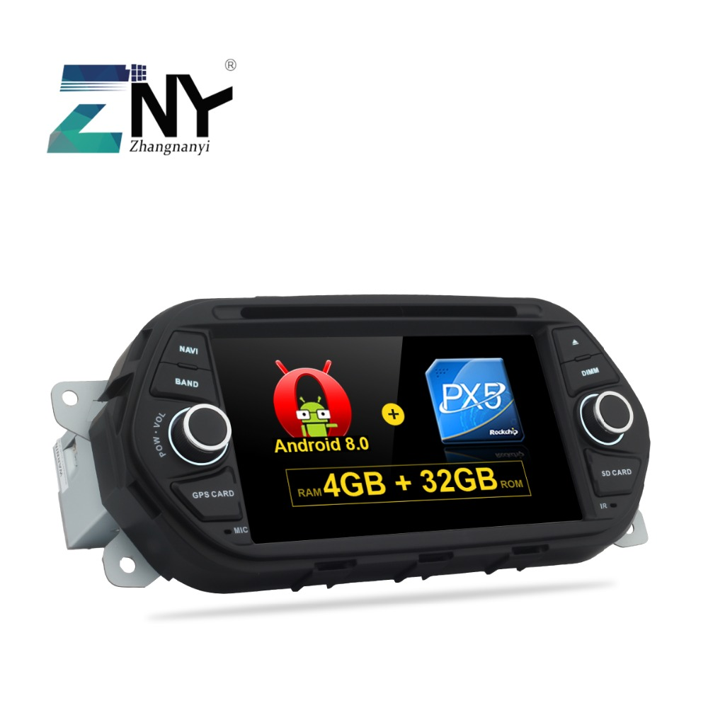 4GB RAM 7 Android 8.0 Car DVD For Fiat Tipo Egea 2015 2016 2017 Auto Radio PC Audio Video Headunit GPS Navigation System 1.8GHz