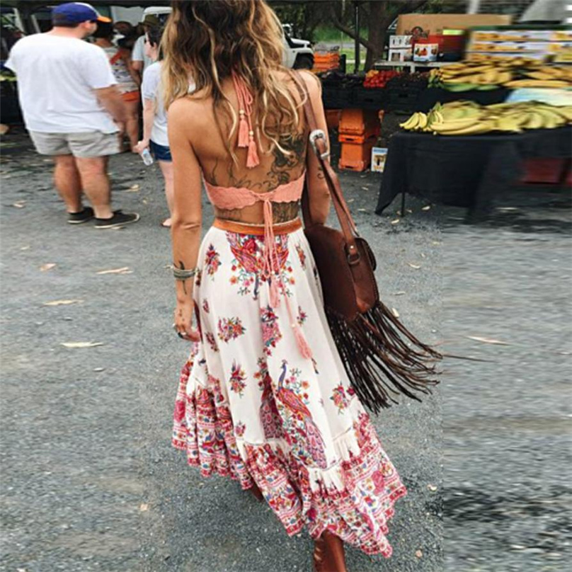pleated chiffon maxi skirt 2017 summer ankle length pleated chiffon maxi skirt 2017 summer ankle length bohemian floral print skirts womens