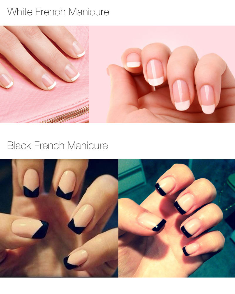 Girlfriend birthday gift LED UV Lamp French Manicure Kit 4 Colors ...