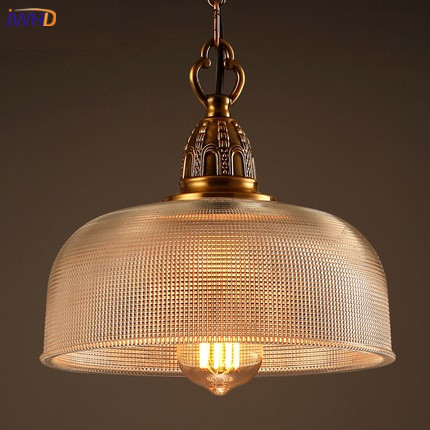IWHD Retro Vintage Hanging Lamp Lights Fixtures Loft Style Glass Industrial Lamp Creative Restaurant Pendant Light Home Lighting iwhd loft vintage led wall lamp glass lampshade retro industrial wall lights bedside light fixtures for home lighting luminaire