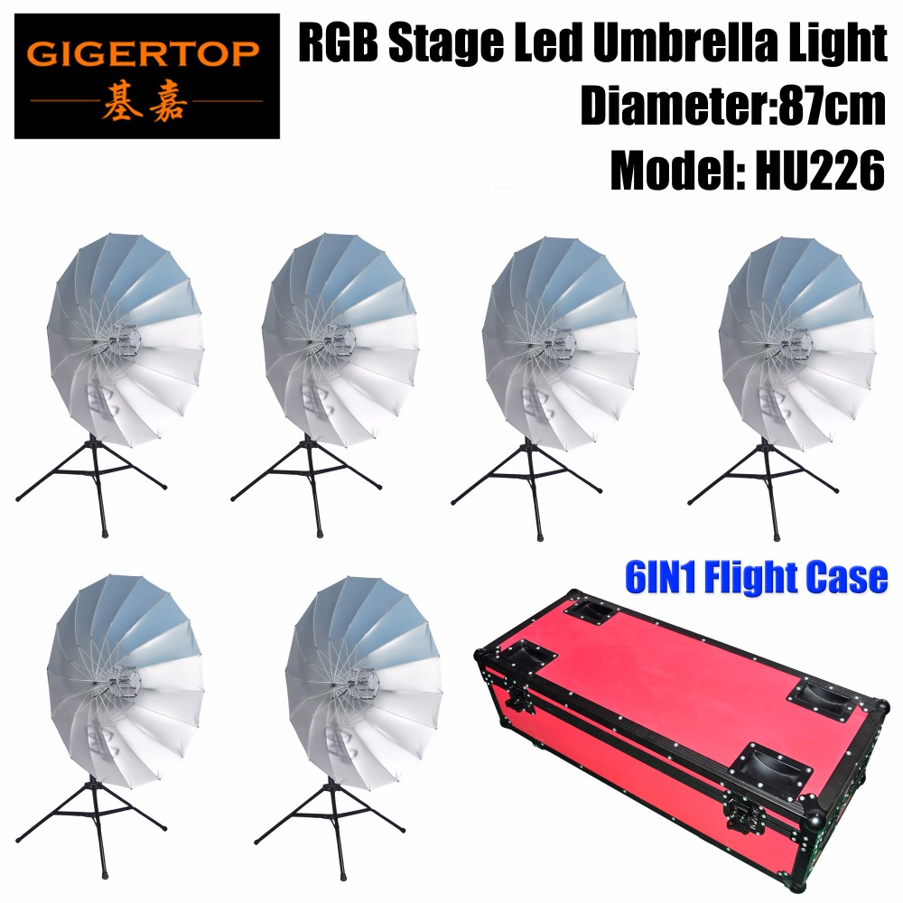 Gigertop Stage Background Led Decoration RGB Umbrella Light 114 SMD RGB 6 Illumination Segment Tripod Optional DMX Controllable