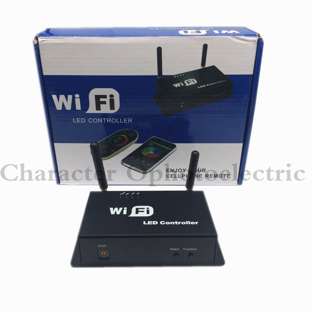 3 stks LED RGB Controler DC5v ~ 24 v WiFi 100 Draadloze touch Android IOS Smartphone Remote 12 v wifi RF rgb led controller
