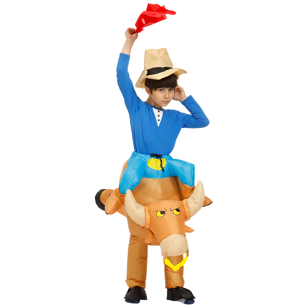 Inflatable Halloween Costume for Kids Bull Riding