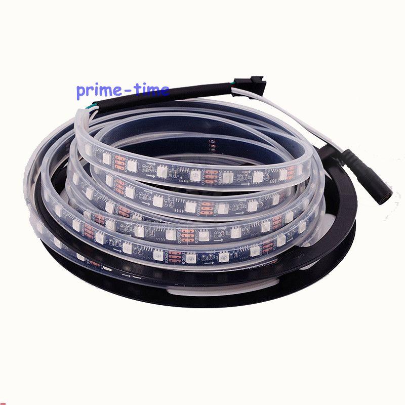 5 M WS2811 IC 300 LEDs led digitale strip Zwart PCB, DC12V 5050SMD - LED-Verlichting