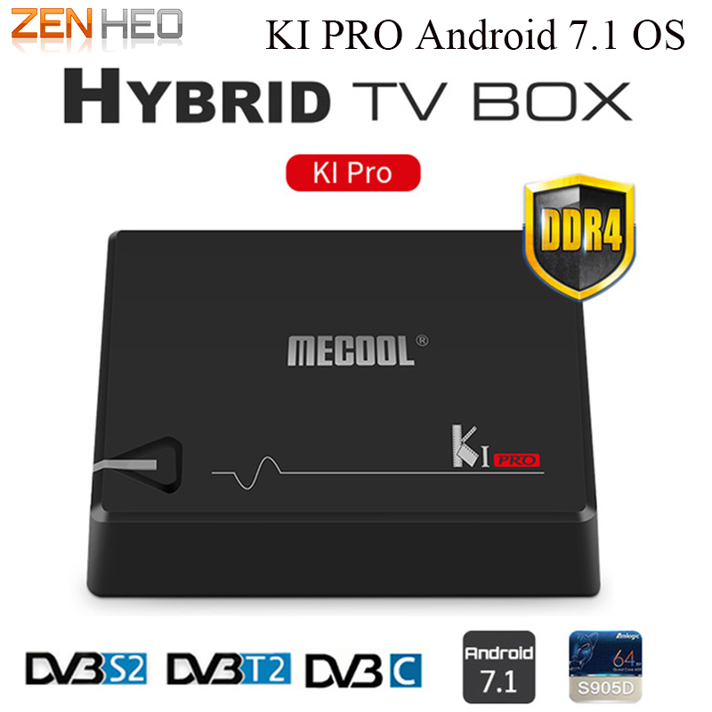 KI PRO 2GB/16GB DVB-T2 DVB-S2 DVB-C Android 7.1 TV Box Amlogic S905D Dual WIFI HD Satellite Receiver+1 Year Clines Europe Server v8 super satellite receiver dvb s2 full 1080p usb wifi biss key newcamd youtube powervu 1 year europe 7 clines server hd
