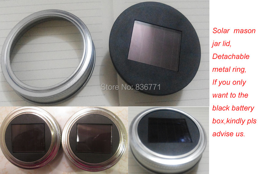Solar Lid Light Wholesale Part - 36: Online Shop Without Switch ,Wholesale 1000pieces/lot Silver Mason Jar Solar  Lid Lights Indoor/Outdoor ,detachable Metal Ring. | Aliexpress Mobile