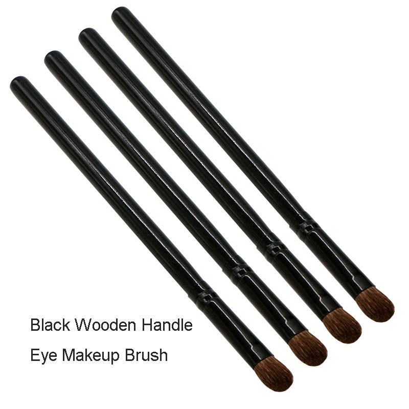 Factory Direct Single Eye Shadow Brush Horse Hair Black Wooden Handle Eye Makeup Brush Tool Beauty Brush New Products H0987