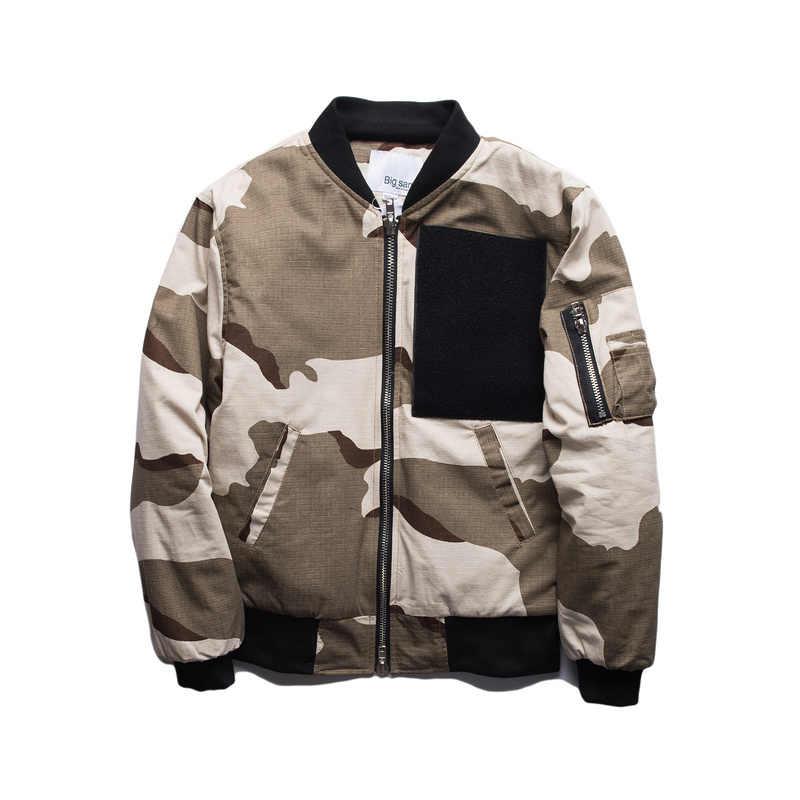 c95e1a0d0b8c9 Skulls Devil Desert Camouflage Military Bomber Jackets Men Thick Jungle  Pockets Zipper MA1 Coats Men WindbreakerNew