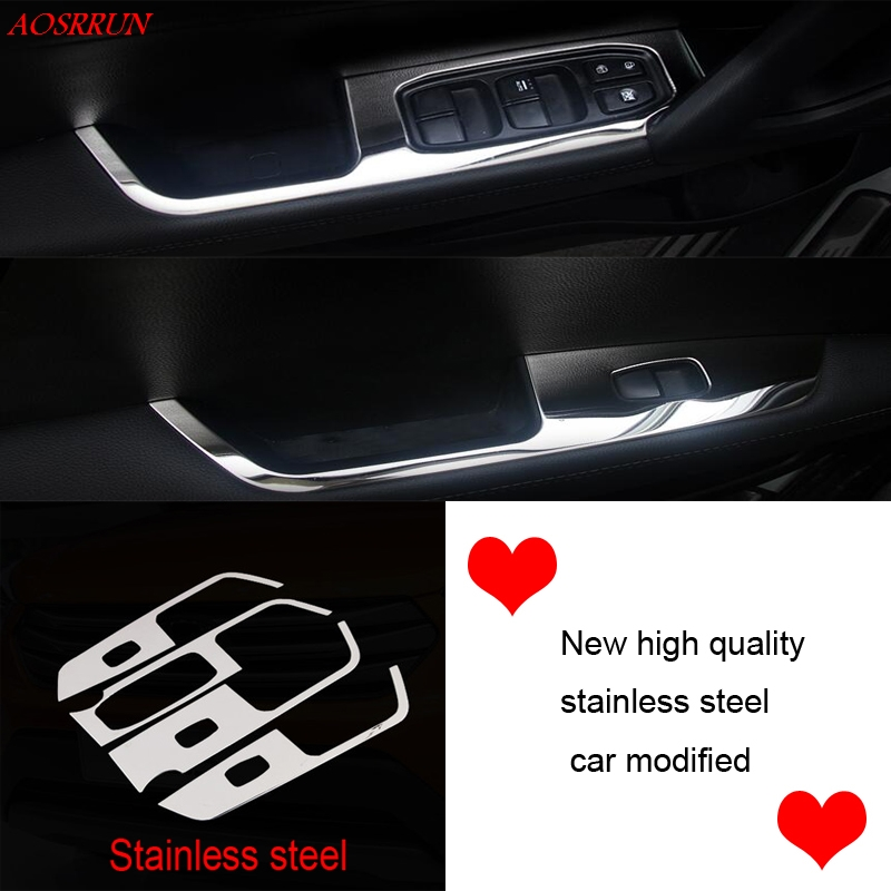 Car Door Armrest Window Switch Stickers Decoration Sequins Control Panel cover LHD For Hyundai Creta IX25 2015 2016 accessories 2016 mini clubman one coopers side door power window switch center console panel covers accessories car stickers for f54 6 door page 4