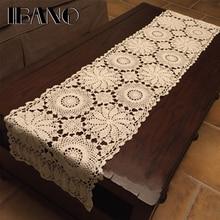 IBANO хлопчатобумажная скатерть ручной работы, вязаная, настольная дорожка, используется для украшения занавесок, 1 шт./лот