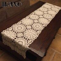 IBANO Baumwolle Tischdecke Handmade Gehäkelte Tischläufer für Dekoration Vorhang Tabelle 1 Teile/los