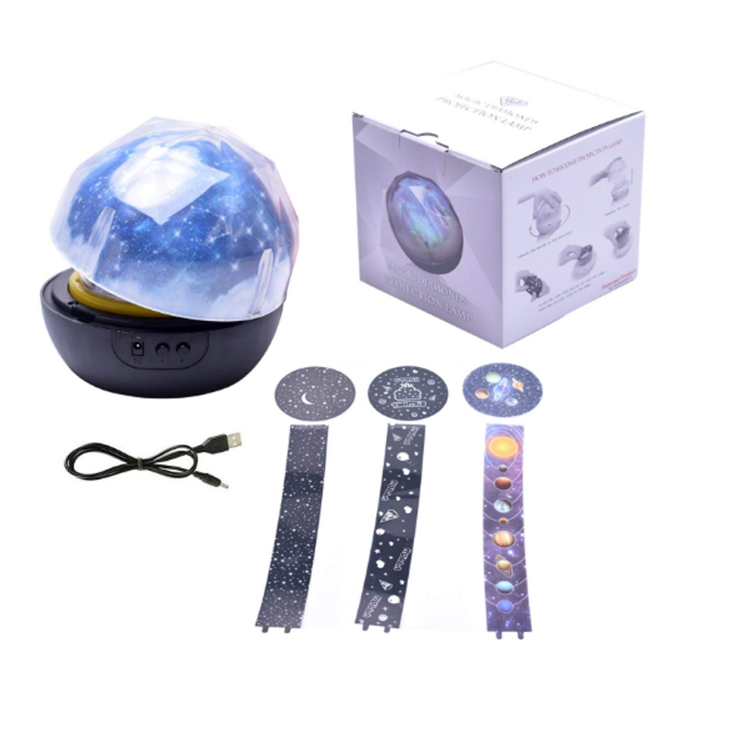 Led Night Light Lamp Child Battery Powered Starry Sky Magic Star Moon Planet Projector Lamp Cosmos Universe bedside lamp (5)