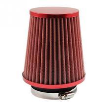 """Красный Универсальный """" автомобильный воздушный фильтр чистый Впускной высокий поток короткий ram/холодный круглый конус"""