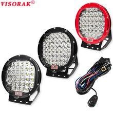 VISORAK 9 inch LED Work Light Bar 96W 185W 225W LED Light Bar 12V 24V Spot Flood For 4WD 4×4 Truck Trailer SUV Offroad Boat ATV