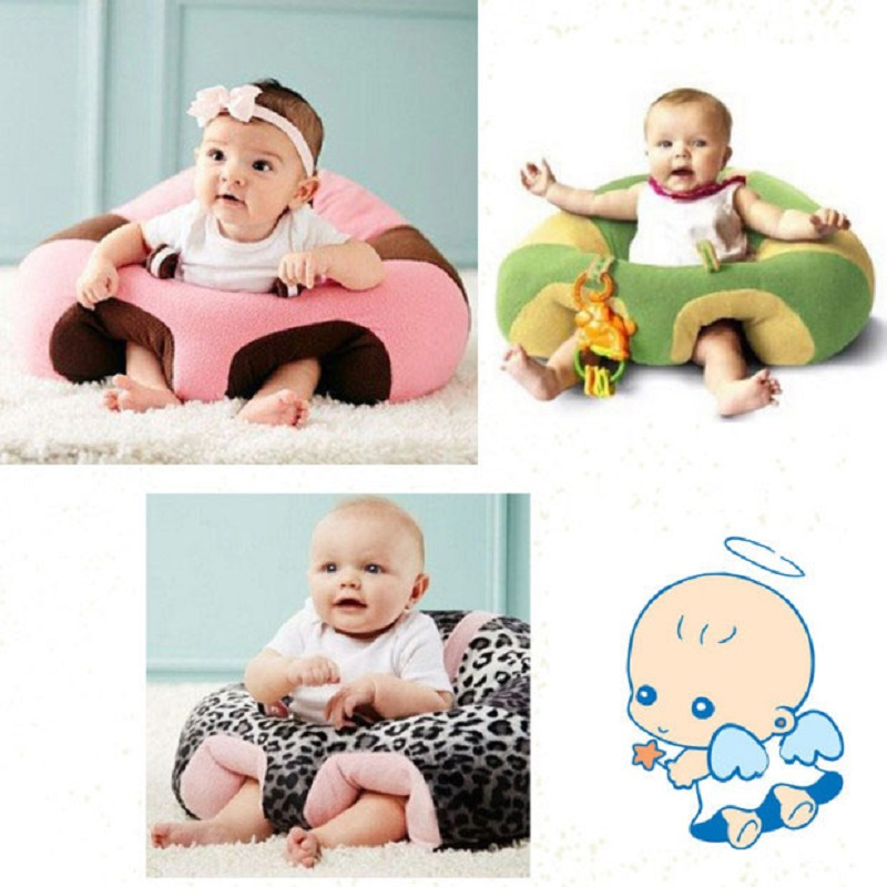 Baby Cotton Filling Material Seat Sofa Kids Learning To Sit Support Soft Chair Cartoon Cute Train Cushion