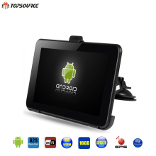 TOPSOURCE 7″ Spian Android Car GPS Navigation Europe  Usa  Uk  Truck gps Navigator  WiFi 512M 16GB  Russian GPS map For Navitel