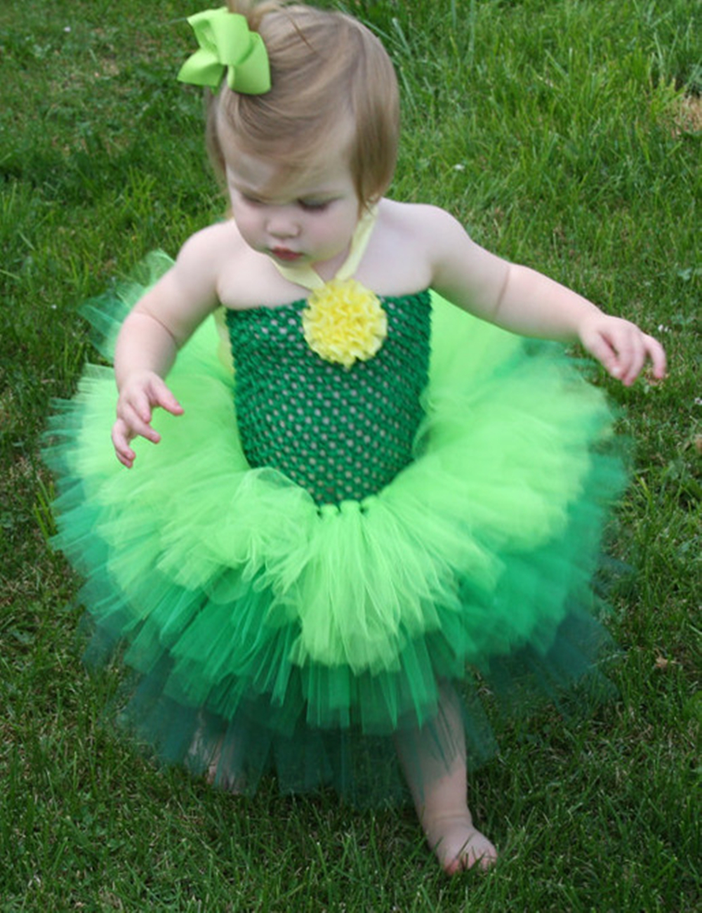 Tinkerbell Tutu Dress Green Ombre Tutu Dress Shabby