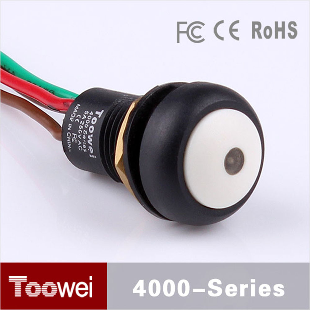 compare prices on wiring light switches online shopping buy low widely use 10pcs lot waterproof 4 wire push button switch led light 12mm dome head plastic reset pushbutton switch on off
