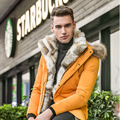 Winter Men Rabbit Fur Jacket Large Raccoon Dog Fur Down Coats Male Snow wear Cardigan Hooded Down Jacket Outerwear Free Shipping