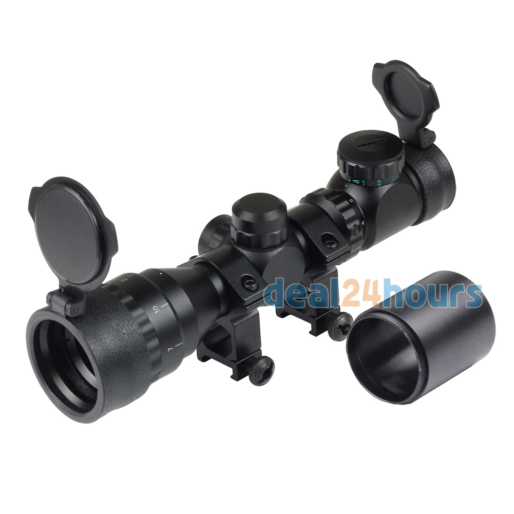 Tactical Reflex 2-6x32 Red Green Mil-dot Sight Rifle Scope Picatinny Rail Mount 20mm Free Shipping купить