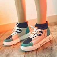 Kjstyrka 2018 sapato feminino women sneakers tenis feminino fashion casual comfortable Mixed colors breathable zapatos mujer