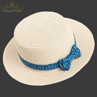 2018 Nowy Marka Lato Bownot słomy kapelusz Słońce dla dzieci Plaża Słońce kapelusz Filcowy Kapelusz panama? czna dla dziewczyny Dzieci Dziecko Kapelusz Dzieci Cap