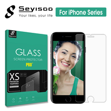 100% Original Seyisoo 2.5D 0.3mm Highly Responsive Screen Protector Tempered Glass For iPhone 5 5S SE 6 6S 7 Plus Toughened Film