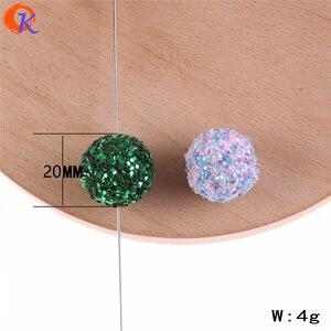 Image 2 - Яркий дизайн от 12 мм до 20 лампочек/блестки на круглых бусинах/ручная работа/Сделай сам/крупные бусины/серьги изготовление ювелирных изделий