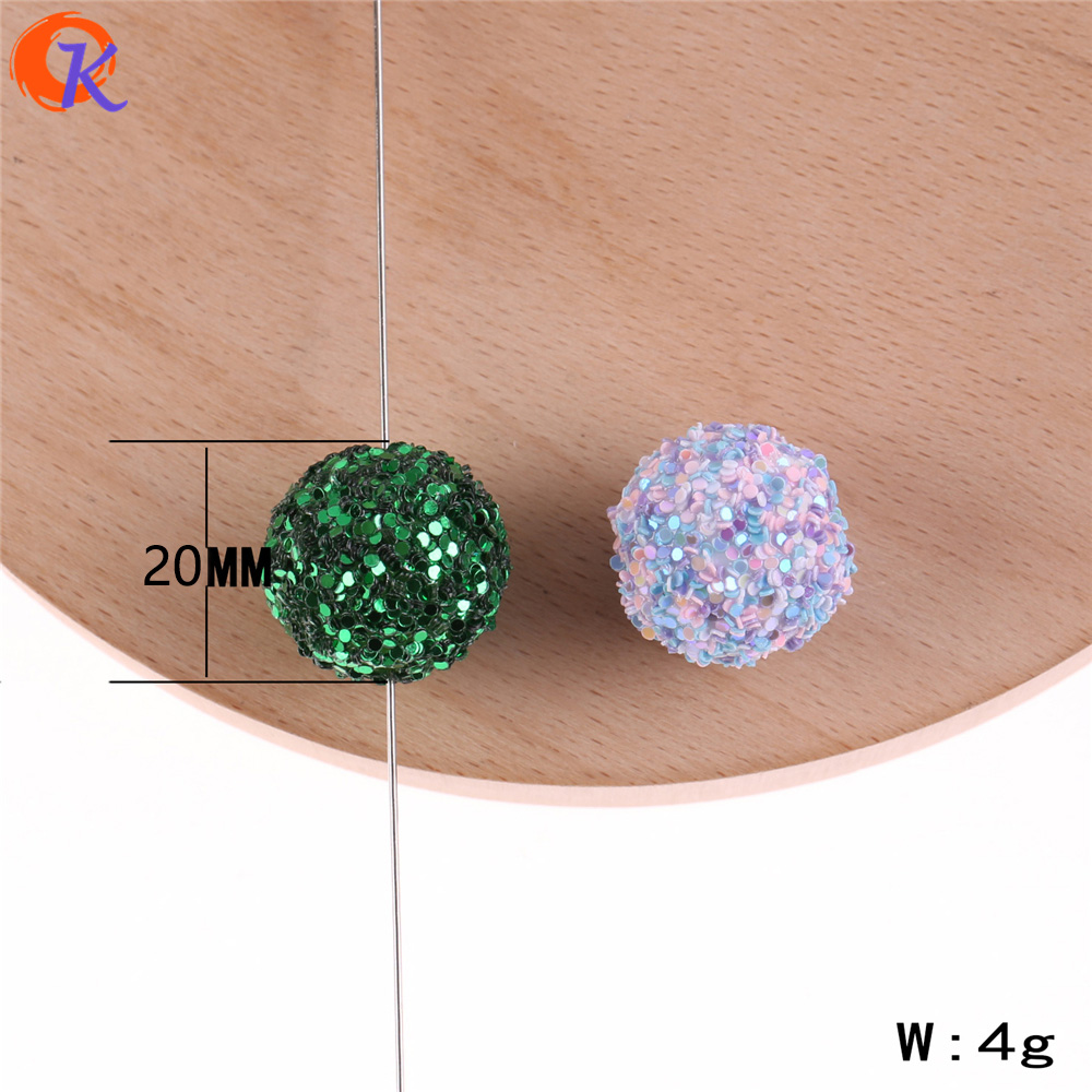 Image 2 - Cordial Design 12mm To 20mm Acrylic Bead Findings/Glitter On Round Beads/Hand Made/DIY/Chunky Beads/Earrings Jewelry Making-in Beads from Jewelry & Accessories