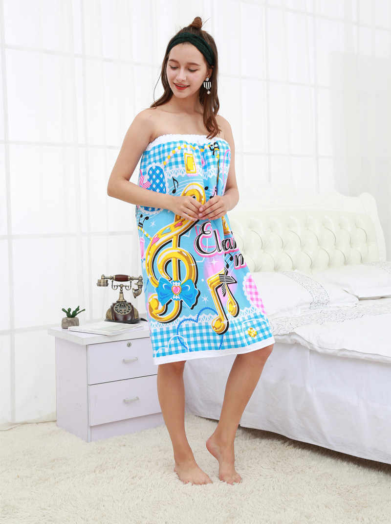 ... Music note men Women 100% Cotton Bath Towel Bath Robe Bathrobe Body Spa Bath  Wrap ... 4a8c3909f