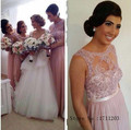 High Quality Pink Beaded Lace Bridesmaid Dresses Sleeveless A Line Long Elegant Women Party Dress For Bridesmaid Vestido De Gala