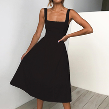 Casual Summer Dress 2019 Women Strapless Spaghetti Strap Dresses Sundres Fashion Vestidos Femme Ladies Elegant