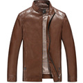 Men PU Leather Jacket 2016 Autumn Fashion Business Dress Slim Fit High Quality Jacket Hot Sale 128