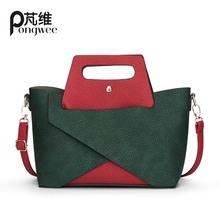 PONGWEE 2016 New Stich einkaufstasche frauen handtasche für Frauen mode handtaschen Damen Mode Frauen messenger umhängetaschen