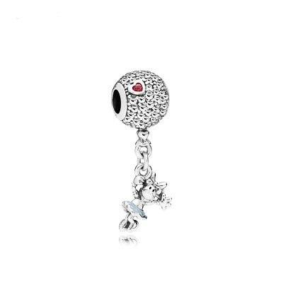 2018 new free shipping 1pc heart minnie hanging dangle bead diy charms Fits European pandora Charm Bracelets A1177