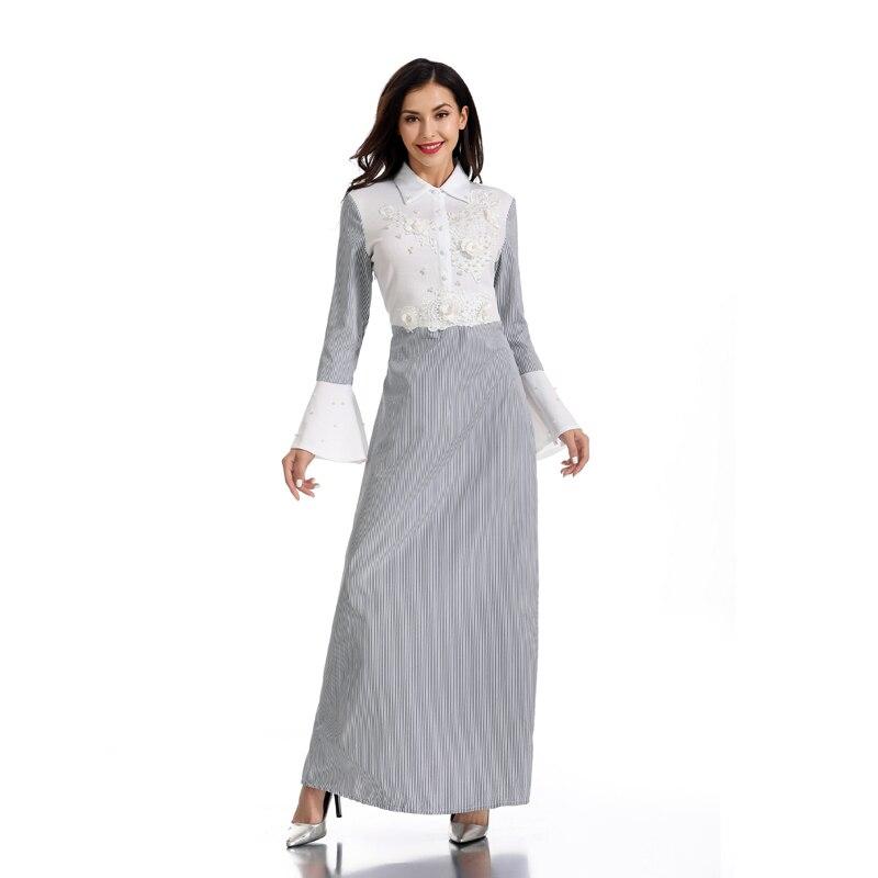Vestidos Striped Abaya Dubai Kaftan Dress Arabic Muslim Hijab Dress Abayas For Women Ramadan Caftan Robe Arabe Musulmane Femme