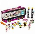 684 шт. 10407 друзья, поп звезда Тур автобус строительные блоки 41106 legoing Friends фигурки Кирпичи игрушки для Детские модельные игрушки подарок