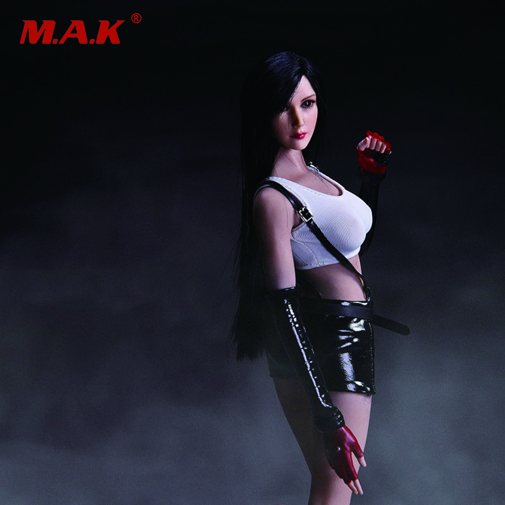 1/6 Scale Tifa Lockhart Head Sculpt and Clothes Models For 12 inches Action Figure 1 6 scale superwoman head sculpt and clothes models for 12 inches action figures dolls accessories