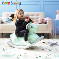 Baby Shining Kids Rocking Horse Ride on Toys Game for Kids Chassis Widening Thick Safe Baby Birthday Gift