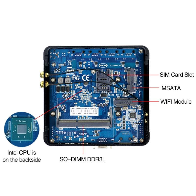Minisys 4 Lan pfsense minipc Intel atom E3845 quad core mini itx motherboard linux firewall computer host machine support AES-NI