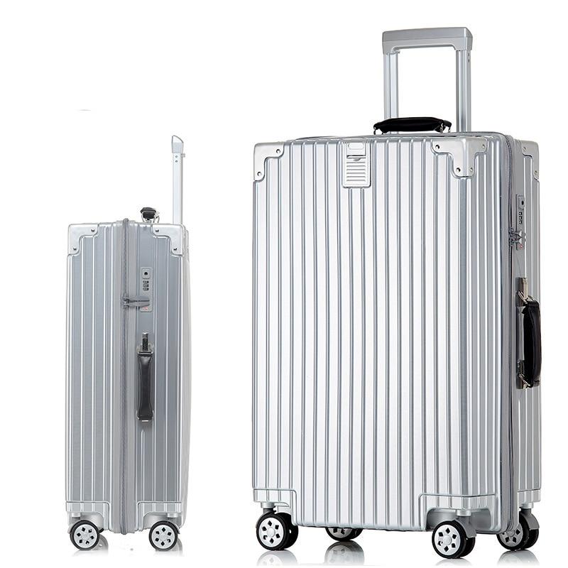 TSA&Metal Drawbars Hardshell PC Suitcase Luggage Travel Luggage Suitcase With Wheel Trolley mala de viagem Suitcases On Wheels 20222426 drawbars