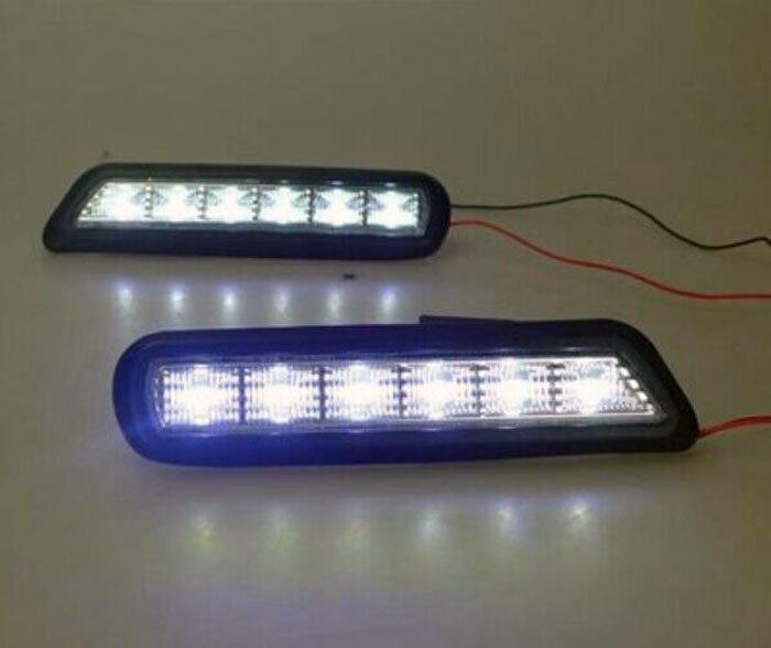 ФОТО 2pcs/lot LED DRL Daytime Running Light For ASX Day Fog Light (2010 2011 2012)