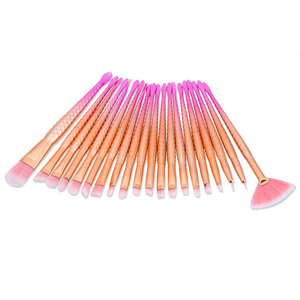 unicorn makeup brushes rose gold. 20pcs unicorn makeup brushes rose gold mermaid brush eye shadow foundation eyebrow fishtail comestic tool-in underwear from mother r