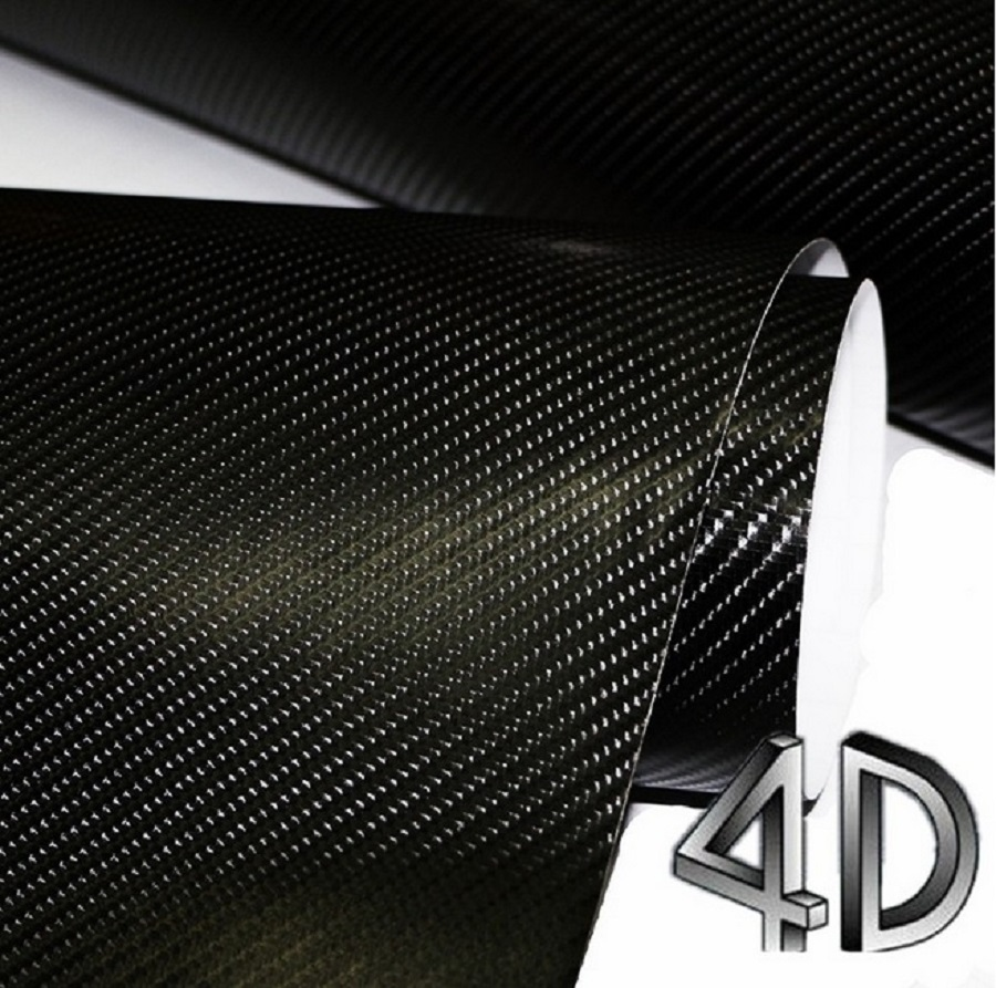 300mmX1520mm Waterproof DIY Car Sticker Car Styling 4D Thicken 3M Car Carbon Fiber Vinyl Wrapping Film With Retail Packaging