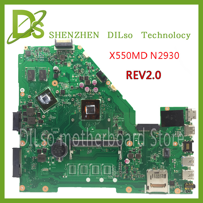 KEFU X550MD For ASUS X550MD laptop motherboard  x550md new motherboard N2930 REV2.0 100% tested motherboard new for asus 14 0 k40ad laptop motherboard 100