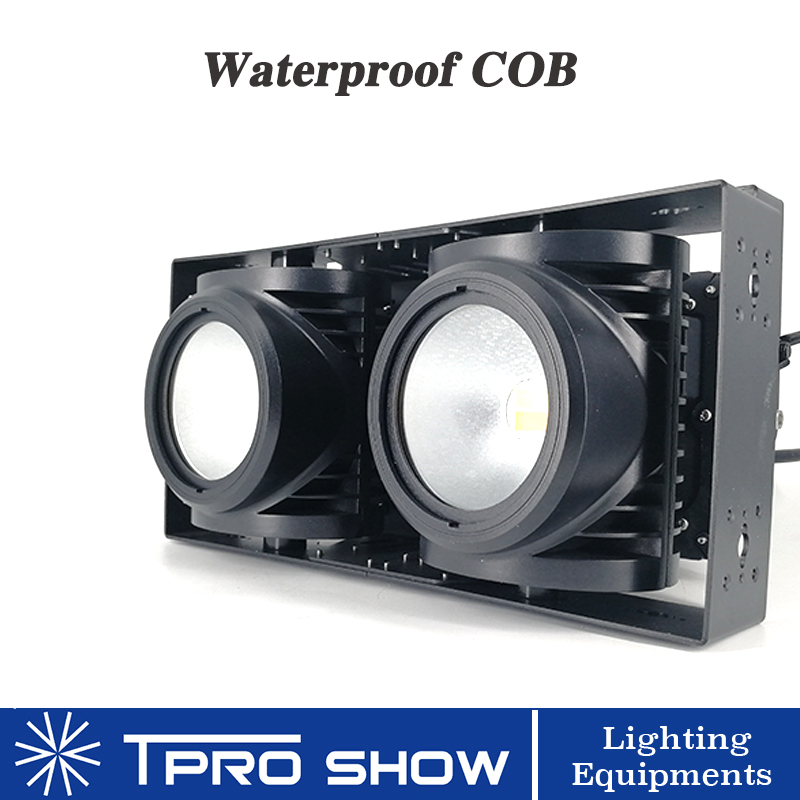 Outdoor LED Blinder 2 Eyes 100W COB Stage Lights Audience Illumination Waterproof 200W Lamp Dmx 512 Control 2 In 1 White Output