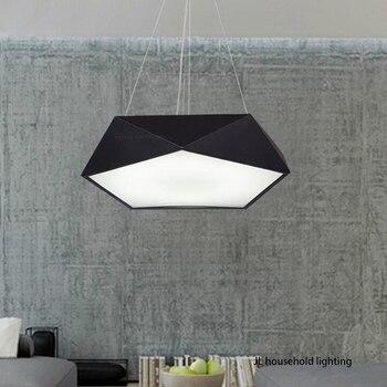 household lighting. Modern Minimalist Geometric LED Pendant Light Lamps AC 90-260v Metal Lighting Fixtures For Study Household